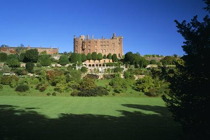 An exterior of Powis Castle