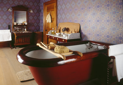 The bathroom at Lanhydrock