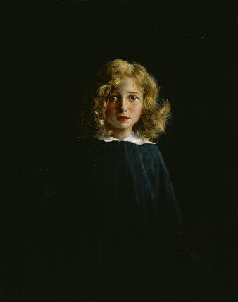 HON HELEN ELIZABETH WARD AS A GIRL, by David Nicholson Ingles, ARHA, (1888-1933).