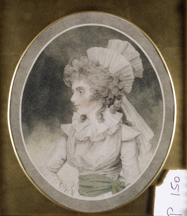 ELIZABETH, DUCHESS OF DEVONSHIRE, oval pastel portrait, English school, late 18th century, post-conservation at Ickworth