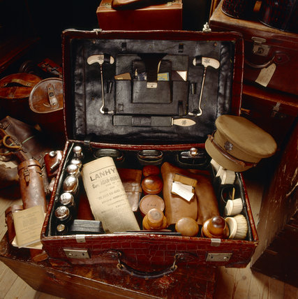 The luggage room at Lanhydrock