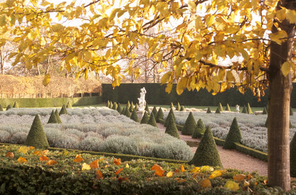 The East Garden Parterre at Ham House in autumn colours