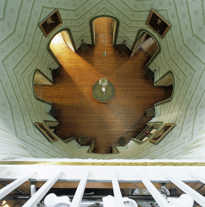 The Octagon, the core of the house at A la Ronde, viewed from above from the Shell Gallery
