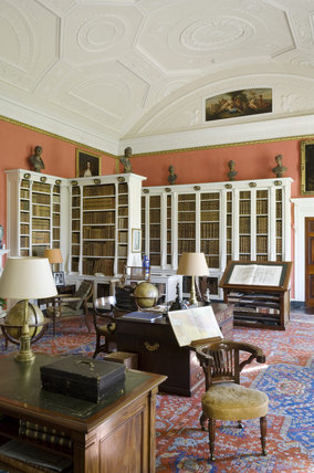 The Library at Belton House, Lincolnshire, UK