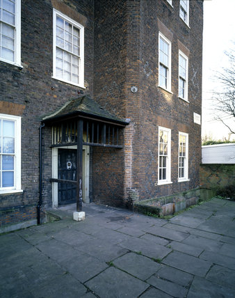 The North Front of Sutton House, constructed in 1525 remodelled in 1700