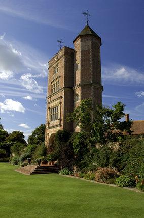 The Elizabethan prospect tower at Sissinghurst Castle Garden, the sanctum of Vita Sackville-West where she wrote novels and articles on gardening