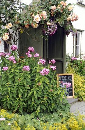 The porch at Yew Tree Farm, Coniston, Lake District, Cumbria