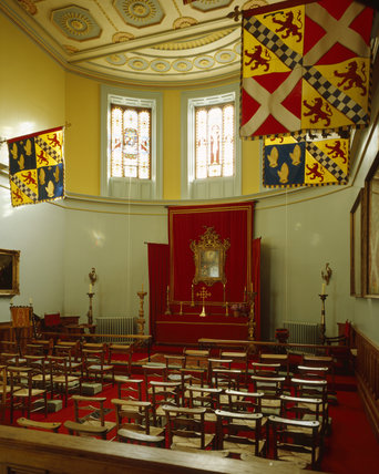 The Chapel at Mount Stewart looking towards the altar