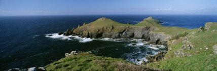 The Rumps, coastal headland at Pentire Head