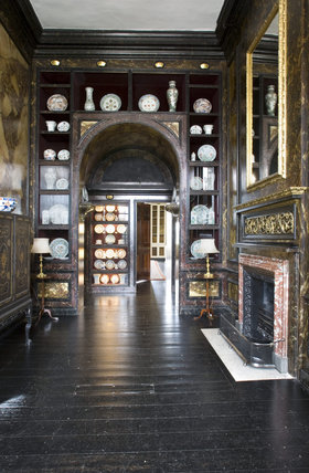 The Ante-Library at Belton House, Lincolnshire, UK, looking towards the Library door