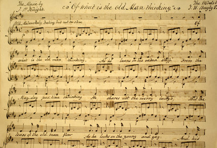 Close view of sheets of music for