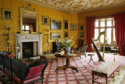 View Of The Drawing Room At Charlecote Park Including A
