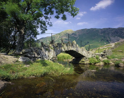 Slater Bridge, a primitive stone bridge, in Little Langdale