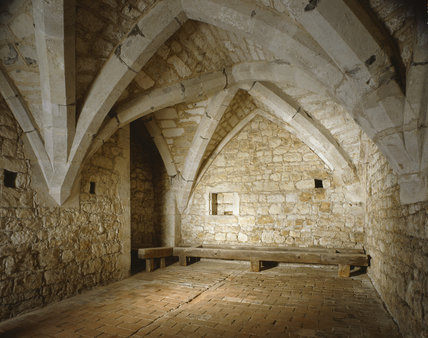 Interior Of The Crypt At Ightham Mote Showing Stone