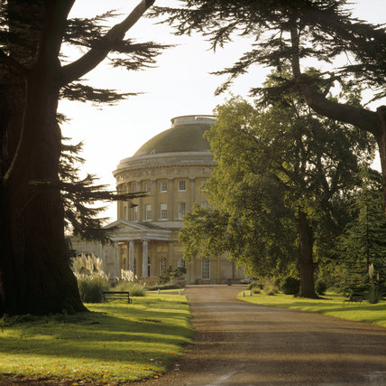 A view of Ickworth from the drive