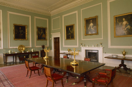 The dining room at Castle Coole designed and furnished by James Wyatt