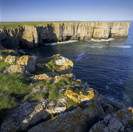 Cliff scenery around Stackpole Head, S