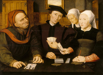 CARD PLAYERS by Jan Matsys situated at Petworth House