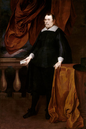 `A GENOESE GENTLEMAN' by GIOVANNI BERNARDO CARBONE (1616-1683), after restoration by Simon Folkes