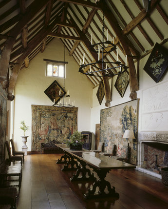 The Great Hall At Packwood House Showing The Timber