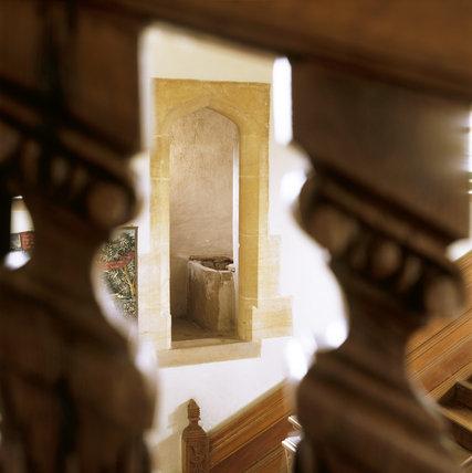 Barrington Court - View of the garde-robe through the balustrade