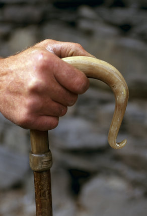 A shepherd's crook at Yew Tree Farm, Coniston, Lake District, Cumbria