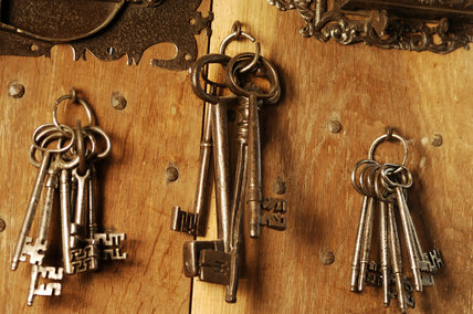 An arrangement of keys, part of a collection in Dragon at Snowshill Manor
