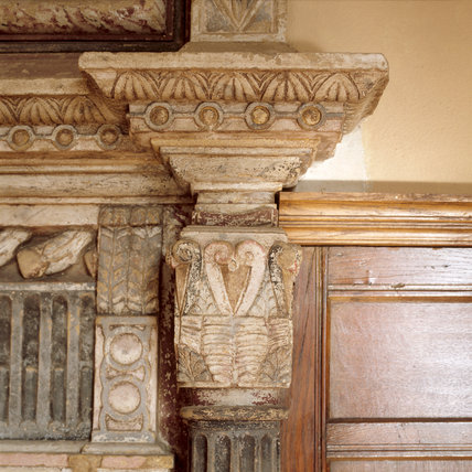 Barrington Court - Detail of the fireplace in the Master Bedroom