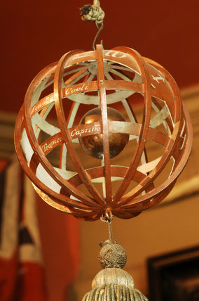 An armillary sphere designed by Charles Wade and made by George Hart, a silversmith of Chipping Campden