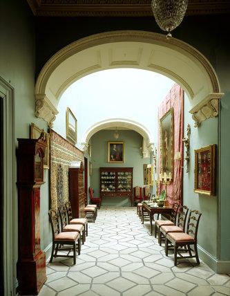 The Black & White Hall at Mount Stewart
