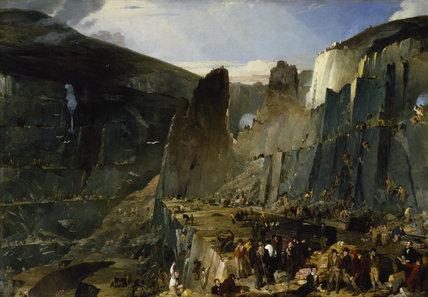 PENRHYN QUARRY by Henry Hawkins (exh 1822-1880) from Penrhyn Castle