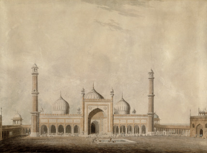 One Of The Oriental Scenery Aquatints A Mosque With 3