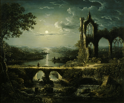 Moonlight Scene A Picture By William Pether 1731 C1795