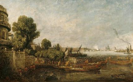 The Opening Of Waterloo Bridge 18 June 1817 By John