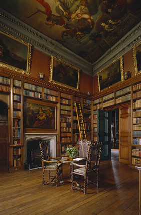 View Of The Library At Powis Castle Including The