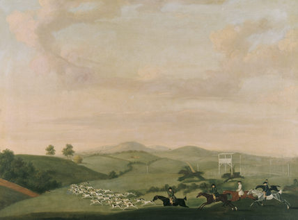 HARRIERS ON THE DOWNS NEAR CLANDON, Attributed to James Seymour