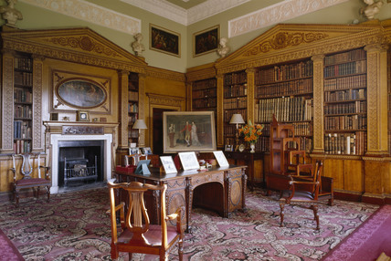 View Of The Library At Nostell Priory The First Room In