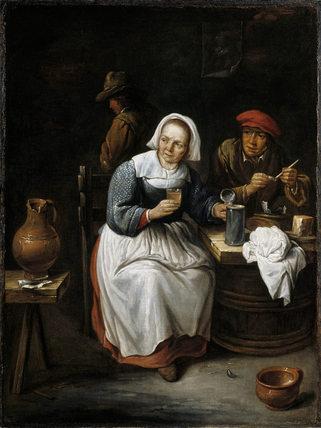 Tavern Scene Dutch 17th Century At Derwent Island