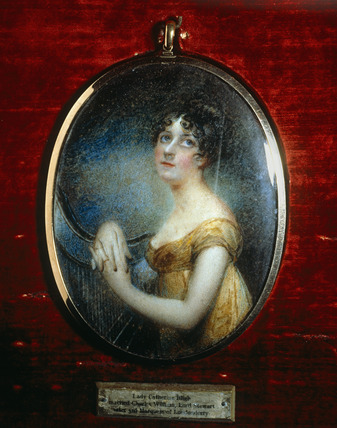 LADY CATHERINE BLIGH, LADY CHARLES STEWART, Portrait Miniature by Anne Mee and James Heath Millington, c.1804
