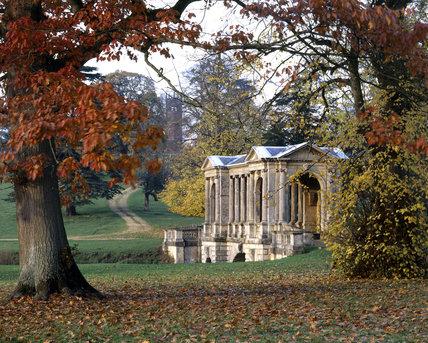 The Palladian Bridge At Stowe Landscape Gardens, Buckinghamshire