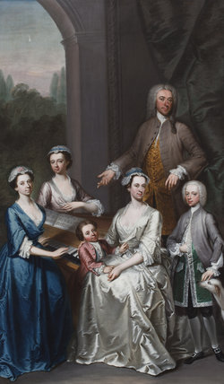 Sir Jacob Astley And Family Attributed To Petrus Johannes