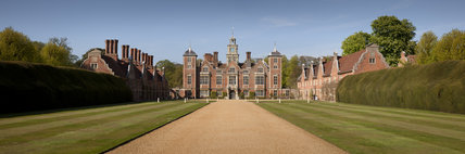 Panoramic view of Blickling Hall in Norfolk, England.