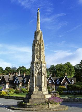 Ilam Cross in Ilam Village, Ilam Park, Derbyshire