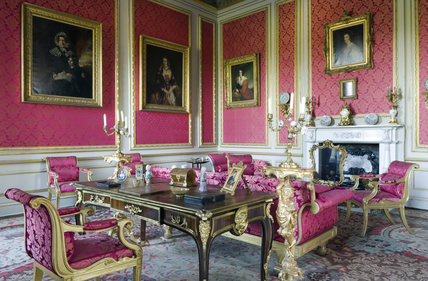 The Red Drawing Room at Belton House, Lincolnshire, UK