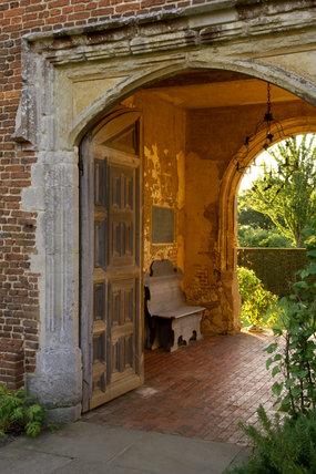A view through the entrance arch at Sissinghurst Castle Garden