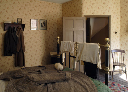 A view of the 1930s house bedroom at the Birmingham Back ...