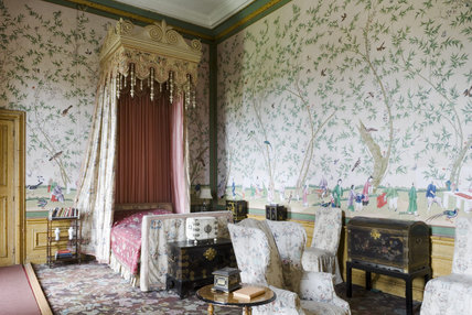 The Chinese Bedroom at Belton House, Lincolnshire, UK