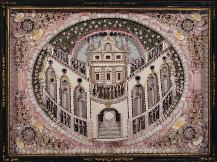 Shell picture of a house, 18th-century, possibly Italian or Portuguese