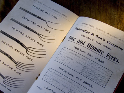 Finch Brothers' catalogue of tools for sale at Finch Foundry in Devon, where agriculltural and mining hand tools were made in the C19th
