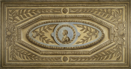 The Trompe L Oeil Painting From The Ceiling Of The Alcove